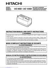 Hitachi UC 9SD Instruction Manual And Safety Instructions