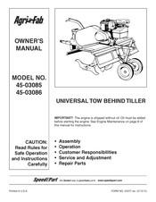 Agri-fab tiller 45-03085 user's manual download free.