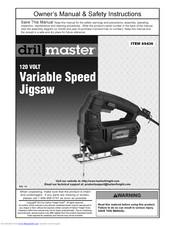 Drill Master 120 Volt Variable Speed Jigsaw Manual Pdf Download Manualslib