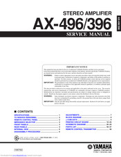 Yamaha AX-396 Service Manual