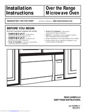 Kenmore 316495111 Installation And Operating Instructions Manual