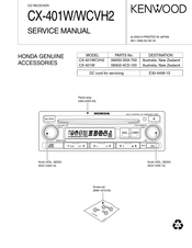 Kenwood WCVH2 Service Manual