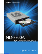 NEC ND-3500A Quick Start Manual