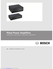 Bosch Plena LBB1938/70 Installation And Operation Manual