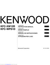 Kenwood KFC-XW12R Instruction Manual