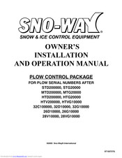 SNO-WAY STD200000 OWNER'S INSTALLATION AND OPERATION MANUAL ... on