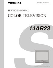 Toshiba 14AR23 Service Manual