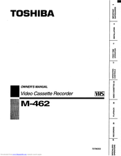 Toshiba M-462 Owner's Manual