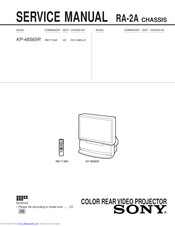 Sony KP-48S65R Service Manual