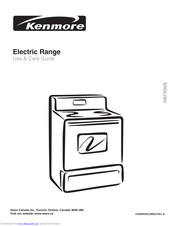 Kenmore 318200449 Use & Care Manual