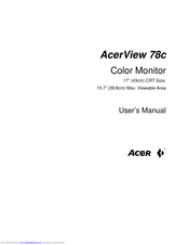 Acer AcerView 78c User Manual