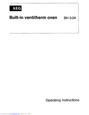 AEG BH 8.04 Operating Instructions Manual