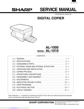 Sharp AL-1000 Series Service Manual