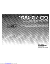 Yamaha K-09 Owner's Manual