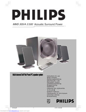 Philips MMS 305 Instructions For Use Manual