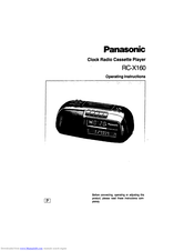 Panasonic RC-X160 Operating Instructions Manual