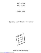 AEG HD 8795 Operating And Installation Instructions