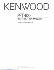 KENWOOD P-T400 Instruction Manual