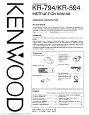 KENWOOD KR-794 Instruction Manual
