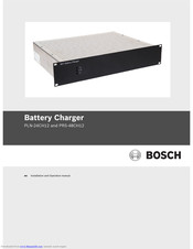 Bosch PLN-24CH12 Installation And Operation Manual