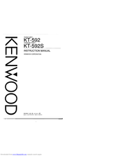 KENWOOD KT-592 Instruction Manual