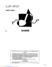 CASIO LD-80 User Manual