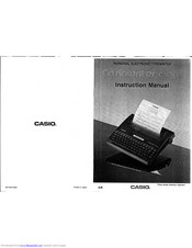CASIO CW-16 Instruction Manual