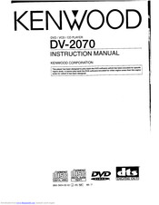 KENWOOD DV-2070 Instruction Manual