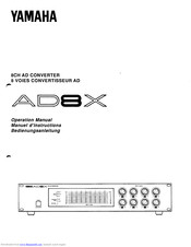 Yamaha AD8X Operation Manual