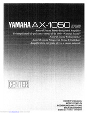 Yamaha AX-1050 RS Owner's Manual