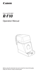 Canon R-F10 Operation Manual