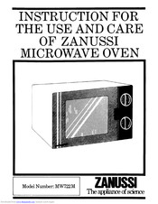 Zanussi MW722M Instructions For Use And Care Manual