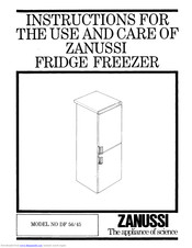 Zanussi DF 45 Instruction Booklet