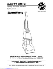 Hoover SteamVac Dual V Owner's Manual
