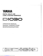 Yamaha D1030 Operation Manual