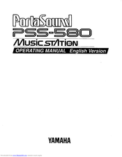 Yamaha PortaSound PSS-580 Operating Manual