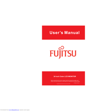 Fujitsu 24 inch Color LCD Monitor User Manual