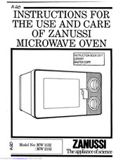 Zanussi MW 2132 Instructions For Use And Care Manual