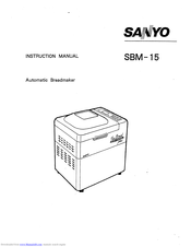 SANYO SBM-15 Instruction Manual