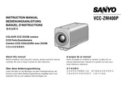 Sanyo VCC-ZM400P Instruction Manual