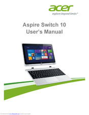 Acer Aspire Switch 10 User Manual