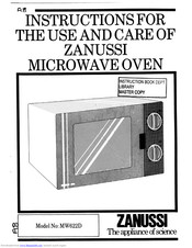 Zanussi MW622D Instructions For Use And Care Manual