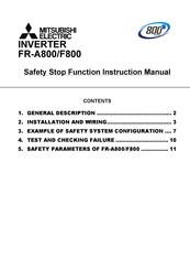 Mitsubishi Electric FR   A800    Manuals
