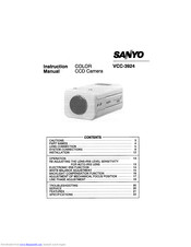 SANYO VCC-3924 Instruction Manual