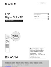 Sony BRAVIA KDL-46NX810 Setup Manual