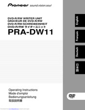 Pioneer PRA-DW11 Operating Instructions Manual