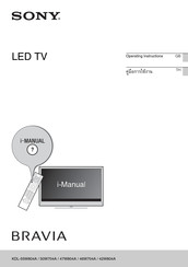 Sony bravia KD-55X9004A Operating Instructions Manual