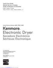 Kenmore 6600 Use & Care Manual