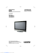 hitachi 32ld9000ta lcd direct view tv manuals rh manualslib com Old Hitachi TV Hitachi 50 Inch TV
