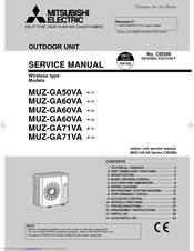 mitsubishi electric muz ga71va manuals rh manualslib com mitsubishi electric starmex service manual mitsubishi electric vrf service manual